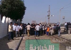 قطع خطوط سكك الحديد بين محافظات وسط الدلتا والإسكندرية والقاهرة