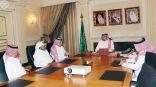 الأمير عبدالله بن مساعد يستقبل رئيس لجنة الإعلام الرياضي