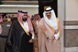 أمير منطقة جازان يستقبل سمو رئيس مجلس إدارة الهيئة السعودية للفضاء