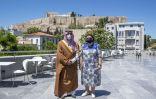 الامير بدر بن عبدالله يلتقي بوزيرة الثقافة والرياضة اليونانية