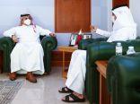 على هامش زيارته لحضور سباق الهجن…الأمير فهد بن جلوي يزور الأولمبية القطرية