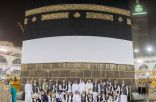#مكة : رفع ثوب الكعبة استعداداً لموسم الحج