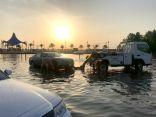 """""""مواقف"""" تنقذ 220 سيارة عالقة في أمطار #جدة بوقت قياسي"""