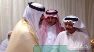 الأميرمتعب بن عبدالله يعزي أسرة القاضي بوفاة ابنهم المبتعث